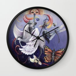 Things with Wings Wall Clock