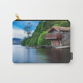 Smooth as Glass Lake and Boathouse Carry-All Pouch
