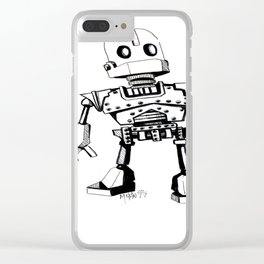 """""""Baby-IRONGIANT"""" Clear iPhone Case"""