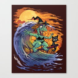 Witch At The Beach Canvas Print