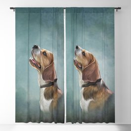 Drawing Dog Beagle 10 Blackout Curtain
