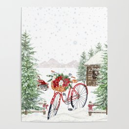 Winter Bicycle Poster