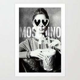Moschino Glasses Art Print