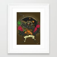 rocket raccoon Framed Art Prints featuring Rocket Raccoon by Ginger Breo