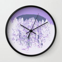 Lavender Mod Trees Wall Clock