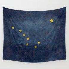Alaska State Flag, Vintage retro version Wall Tapestry