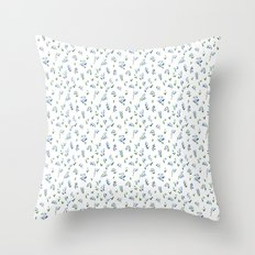 blue lily subtle pattern Throw Pillow