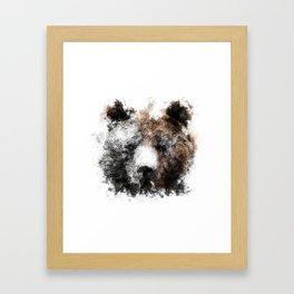 Bear Face Painting Framed Art Print