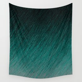 Funky Dark Cyan Wall Tapestry