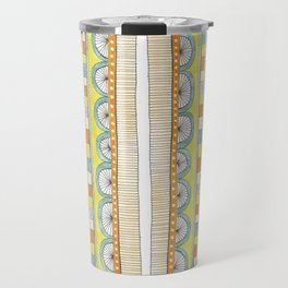 pattern with pale colors Travel Mug