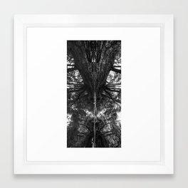 Creekside b&w Framed Art Print