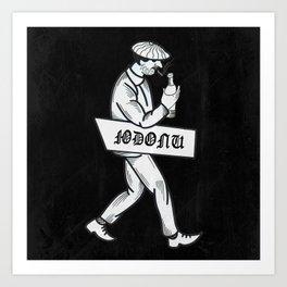common man Art Print
