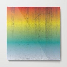Rainbow Concrete Metal Print