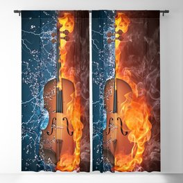 Fire and Water 009 Blackout Curtain