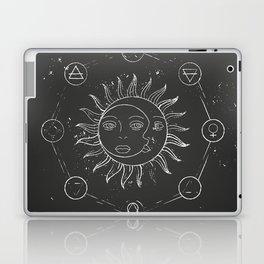 Moon, sun and elements Laptop & iPad Skin