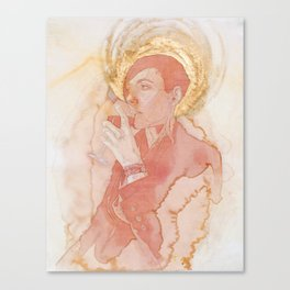 Self-portrait as Saint Pompette No. 2 Canvas Print
