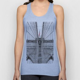 The Brooklyn Bridge and American Flag Unisex Tank Top