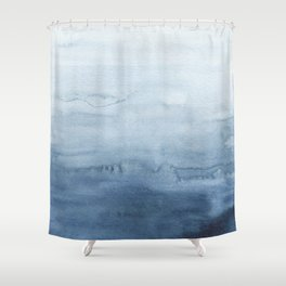 Indigo Abstract Painting | No. 4 Shower Curtain
