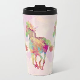 Abstract horse Travel Mug