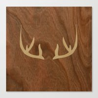 antler Canvas Prints featuring Antler by Annie Skrmetti
