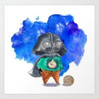 vader Art Prints featuring Vader by gunberk