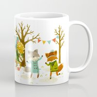 dancing Mugs featuring Critters: Spring Dancing by Teagan White