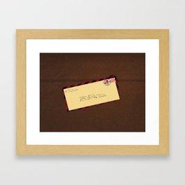Long Lost Love Framed Art Print