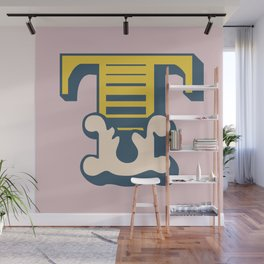 'The letter T' Design Motif Wall Mural