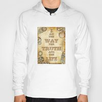 bible verses Hoodies featuring Bible Verse Steampunk Way Truth Life by Whimsy and Nonsense