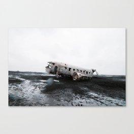 DC-4 Plane Wreckage Canvas Print