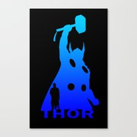 thor Canvas Prints featuring Thor by Sport_Designs