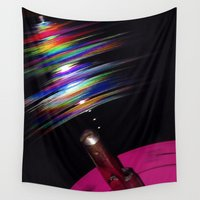 record Wall Tapestries featuring Rainbow Record by Jason Simms