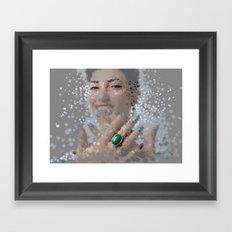 smiles and rings Framed Art Print