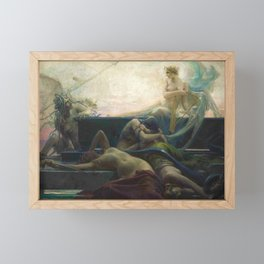 Finis (The End of All Things) Magical Realism Greek Mythology by Maximilian Pirner Framed Mini Art Print