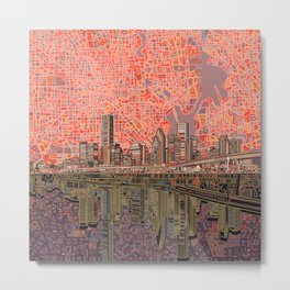houston city skyline Metal Print