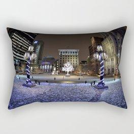The Perfect City Winter Scene Rectangular Pillow