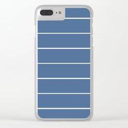 Striper in Blue Clear iPhone Case