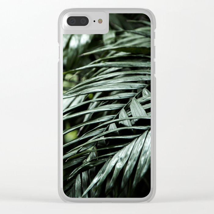 Tropical leaves 03 Clear iPhone Case
