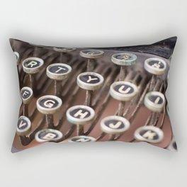 Antique typewriter keys Rectangular Pillow