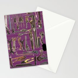 Purple Tools Stationery Cards
