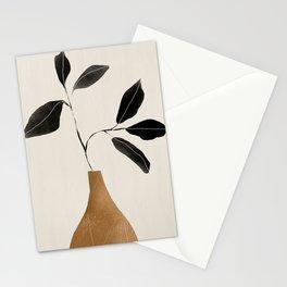 minimal plant 6 Stationery Cards