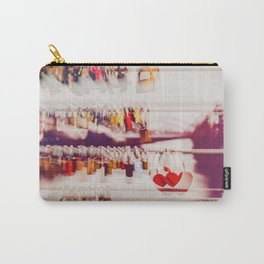 love locks on the river bridge  Carry-All Pouch