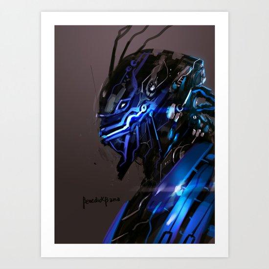Apocalypse X Machine Marvel Fan Art Art Print