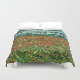 Vincent Van Gogh Poppy Field Duvet Cover