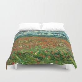 Vincent Van Gogh Poppy Field Duvet Cover