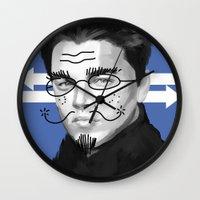 leonardo Wall Clocks featuring Leonardo DiCaprio by Pazu Cheng