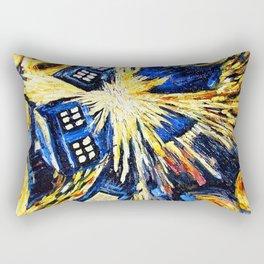 Tardis By Van Gogh - Doctor Who Rectangular Pillow