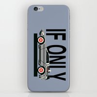 delorean iPhone & iPod Skins featuring Future Delorean  by IF ONLY