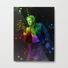 Han Solo StarWars Colorful Splatter Art - Science Fiction Painting Metal Print