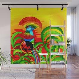 Paradise Bird Wall Mural